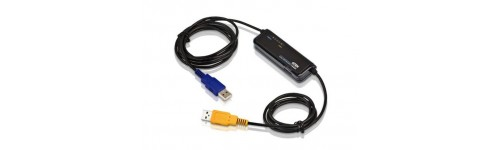 Laptop USB, DVI-D, HDMI and Hybrid  KVM